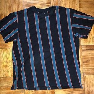 Black and teal striped shirt